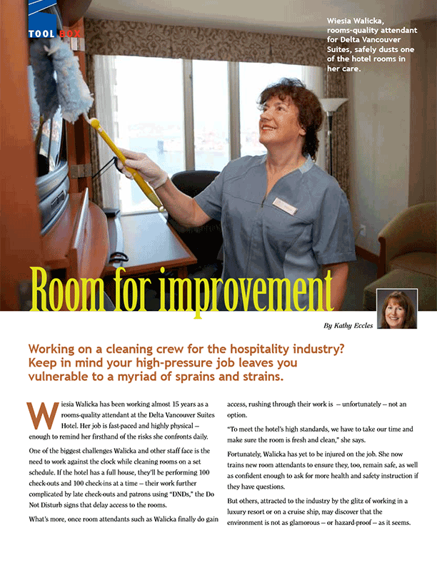 Room for Improvement: Preventing Injuries to Room Attendants