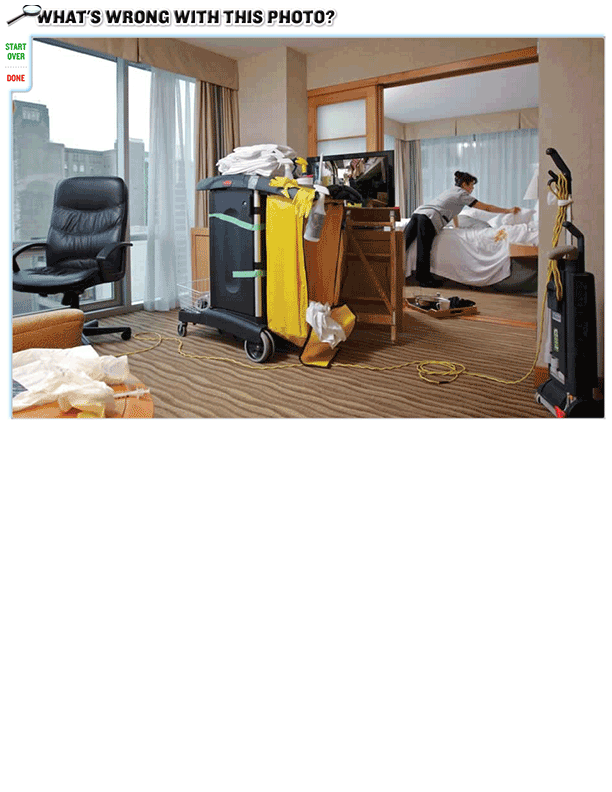 What's wrong with this Photo? (Room Attendant)