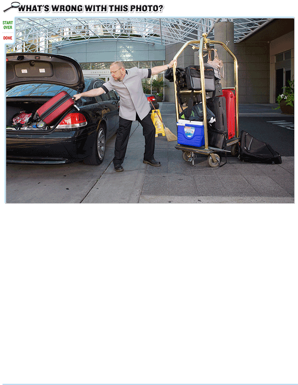 What's wrong with this photo? (Luggage handling)