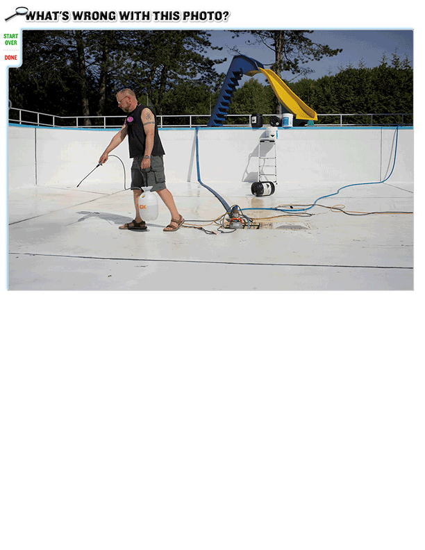 What's wrong with this photo? (Swimming Pool Safety)