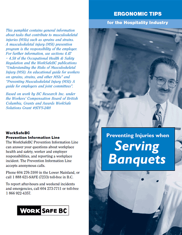 Ergonomic Tips for the Hospitality Industry: Preventing Injuries when Serving Banquets