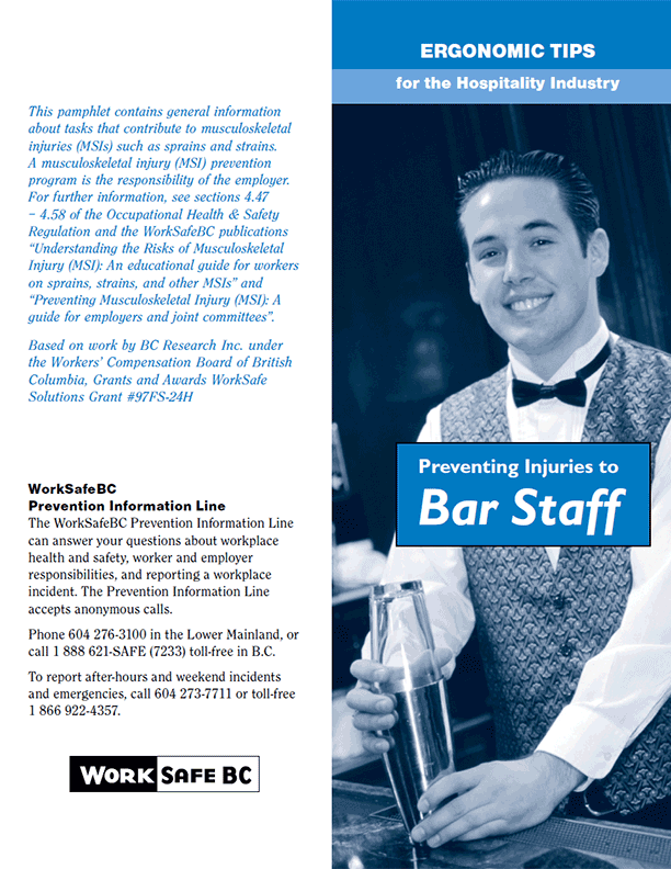 Ergonomic Tips for the Hospitality Industry: Preventing Injuries to Bar Staff
