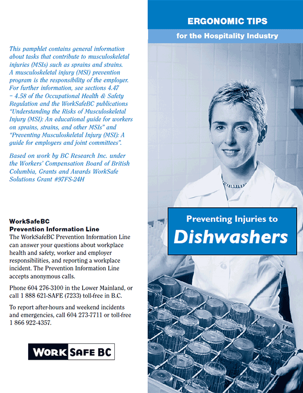 Ergonomic Tips for the Hospitality Industry: Preventing Injuries to Dishwashers