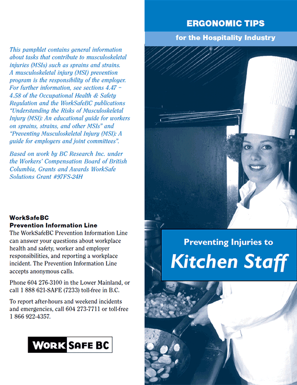 Ergonomic Tips for the Hospitality Industry: Preventing Injuries to Kitchen Staff