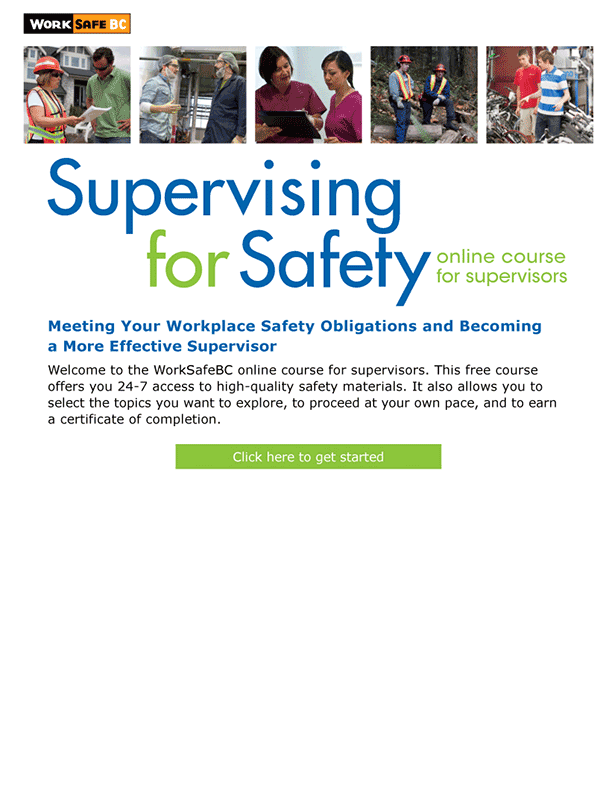 Supervising for Safety Course