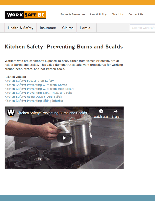 Kitchen Safety: Preventing Burns and Scalds
