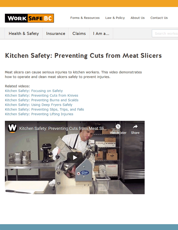 Kitchen Safety: Preventing Cuts from Meat Slicers