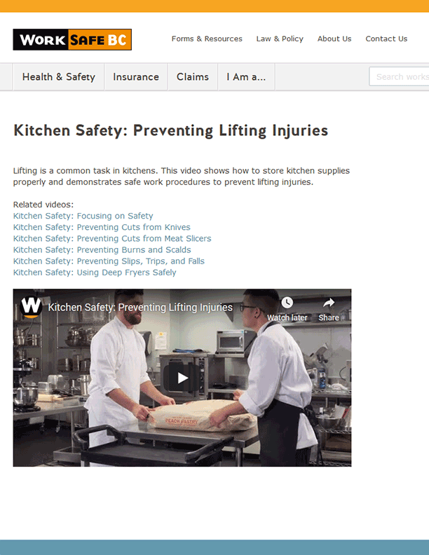 Kitchen Safety: Preventing Lifting Injuries