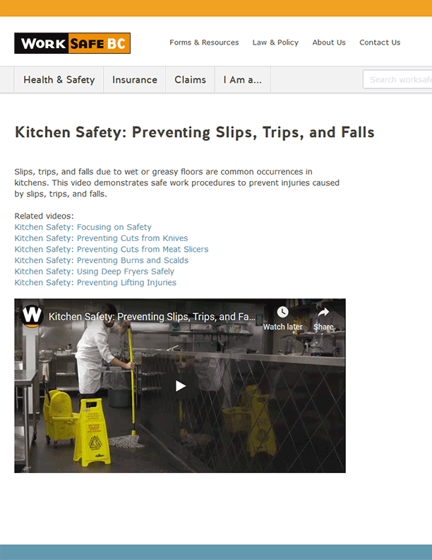 Kitchen Safety: Preventing Slips, Trips, and Falls