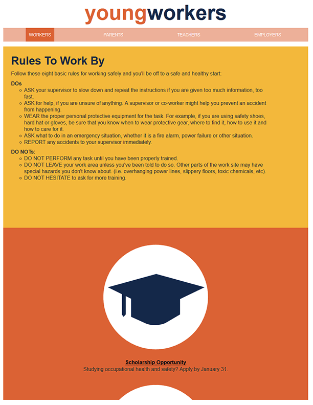 Young Workers – Rules To Work By