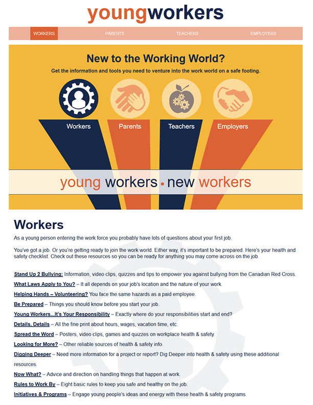 Young Workers – New to the Working World?