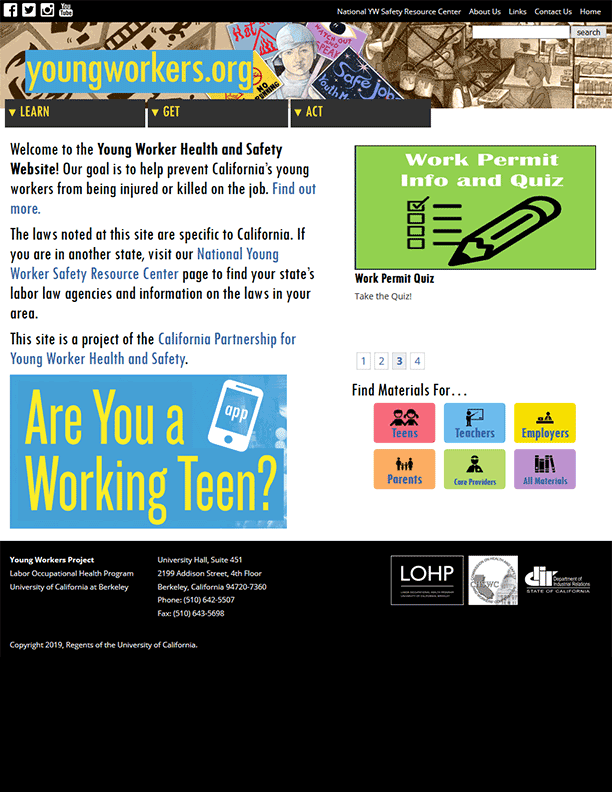 Young Worker Health and Safety