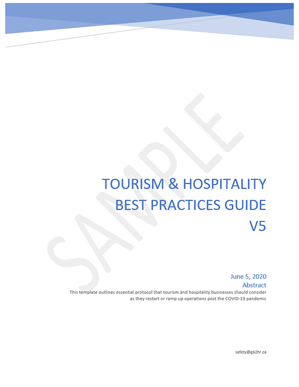 go2HR's Tourism and Hospitality COVID-19 Best Practice Guide